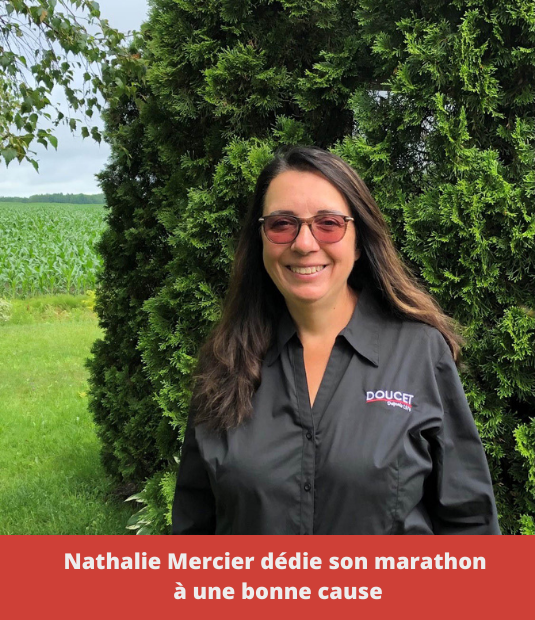 Nathalie Mercier dedicates her marathon to a great cause.