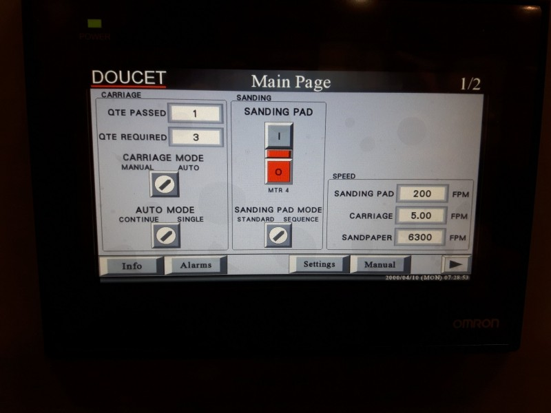HMI Control Panel Page 1