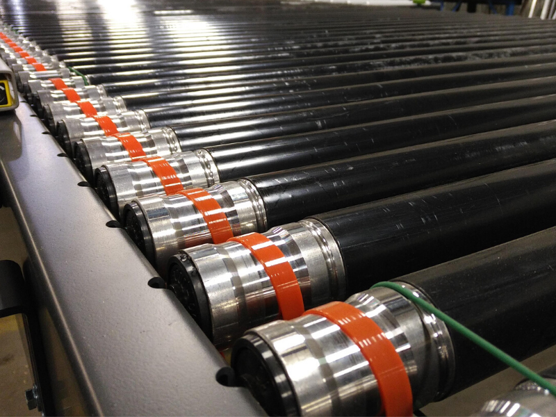 PVC covered steel rollers