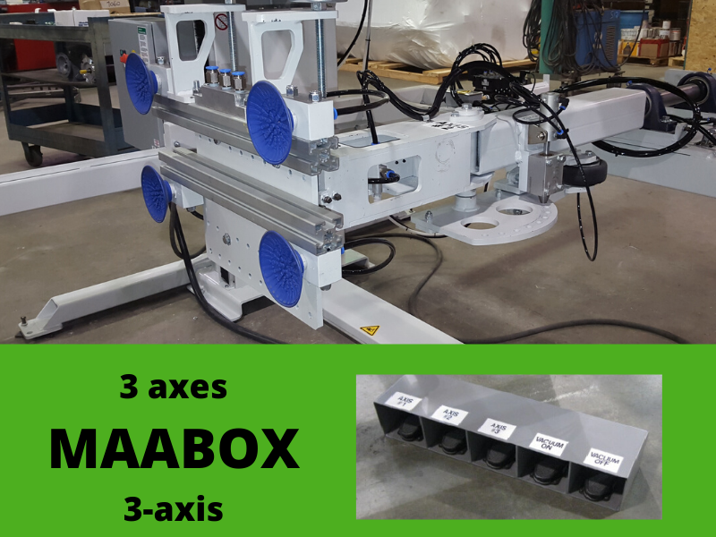 MAABOX:  Multi-axis arm for encloser box