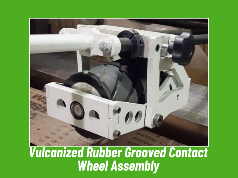 Vulcanized Rubber Grooved Contact Wheel Assembly