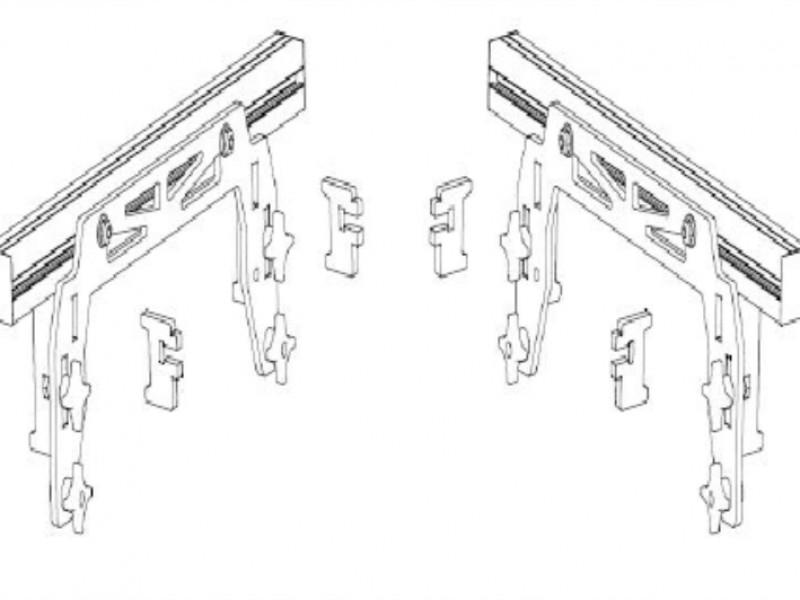Barres de soulèvement pour caisson avec façade intégrée